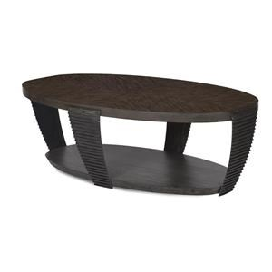 Oval Cocktail Table w/ Casters