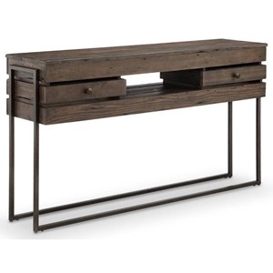 Rectangular Sofa Table with Four Drawers