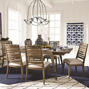 Rustic 7 Piece Dining Set at Standard Height