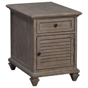 Rustic Drawer Chairside End Table with Levelers