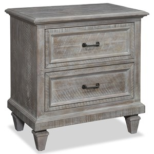Rustic Night Stand with Two Drawers