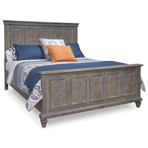 Rustic California King Panel Bed