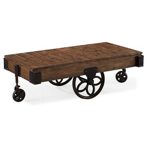 Magnussen Home Larkin Rectangular Cocktail Table with Casters
