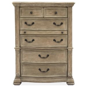 Traditional 5-Drawer Chest with Jewelry Drawer
