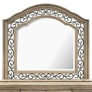 Traditional Shaped Dresser Mirror with Metal Trim