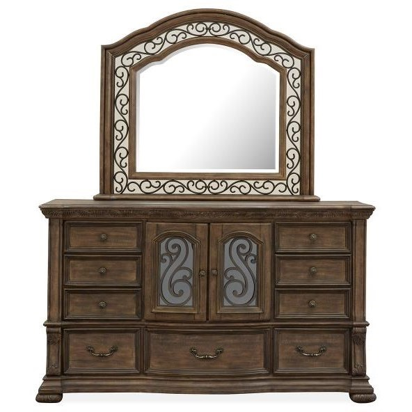 Durango Dresser and Mirror Set by Magnussen Home at Upper Room Home Furnishings
