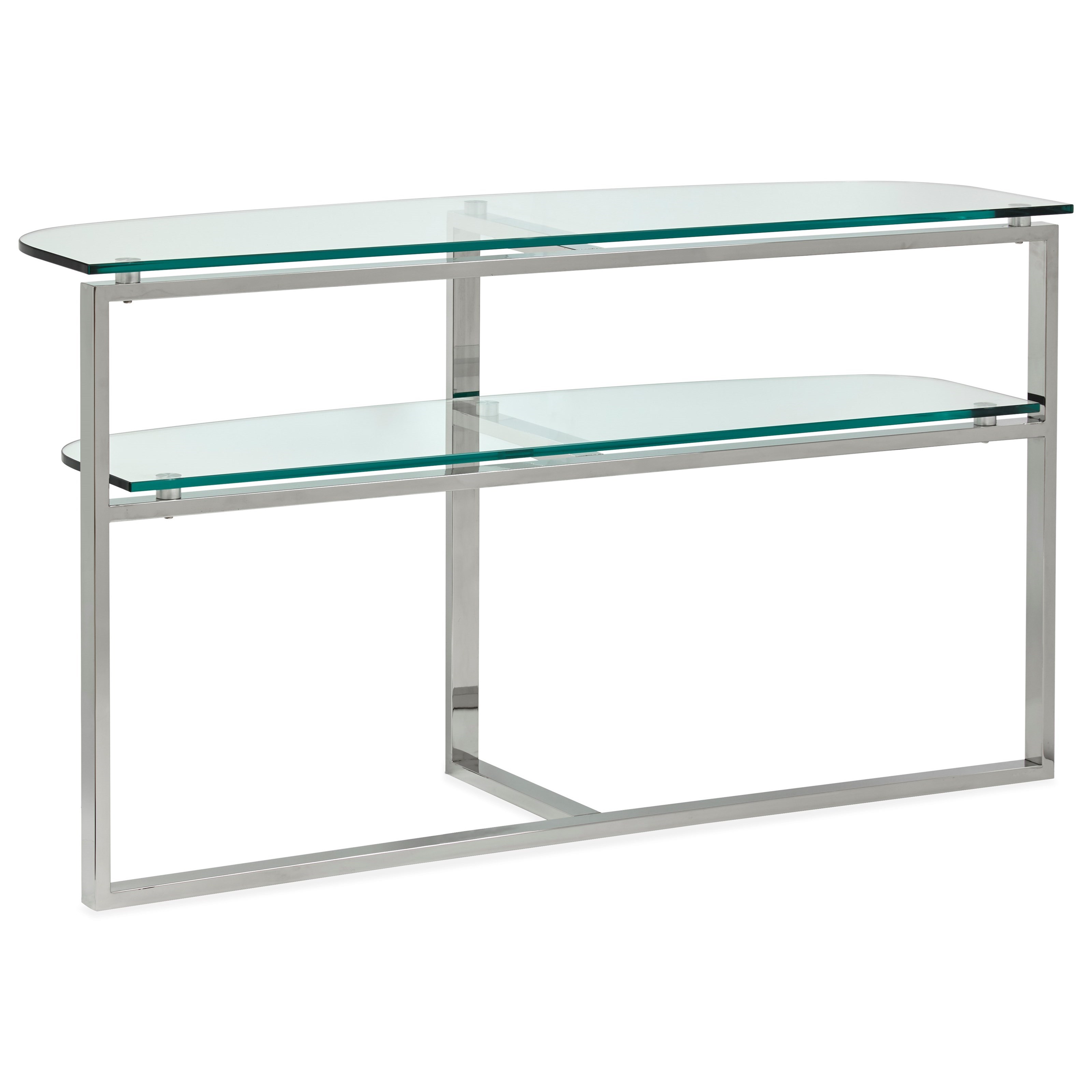 Medlock T5056 Shaped Sofa Table by Magnussen Home at Darvin Furniture