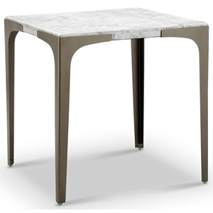 Contemporary End Table with Marble Top
