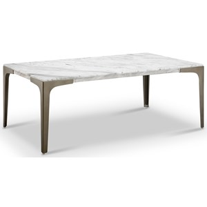 Contemporary Cocktail Table with Marble Top