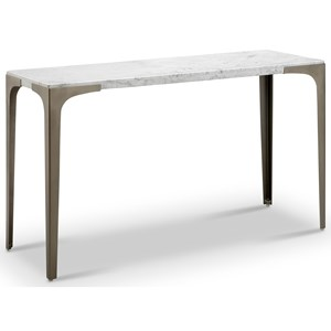 Contemporary Sofa Table with Marble Top