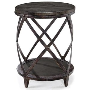 Round Accent Table with Shelf