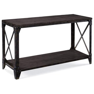Rectangular Sofa Table with Shelf