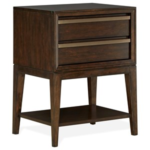 Contemporary 2 Drawer Night Stand with USB Charging