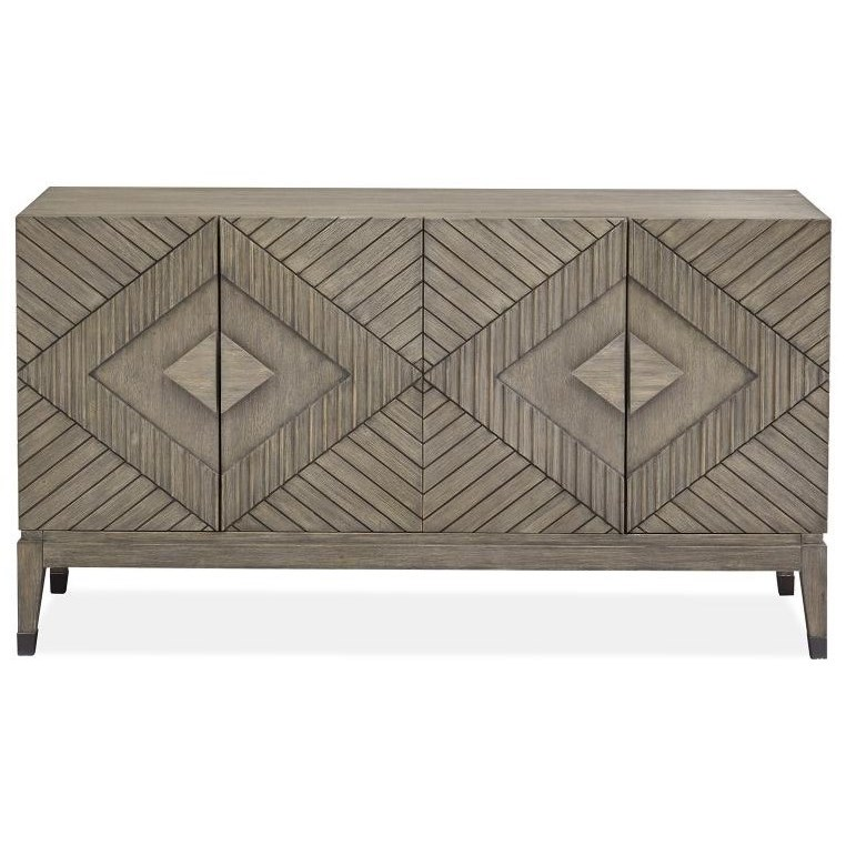 Mosaic 4-Door Accent Cabinet by Magnussen Home at Stoney Creek Furniture