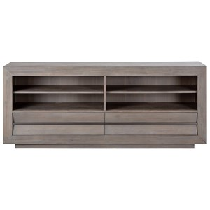 """Contemporary 70"""" Driftwood Grey TV Stand"""