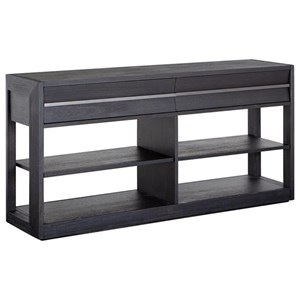 Contemporary 2-Drawer Console Sofa Table with Adjustable Shelves