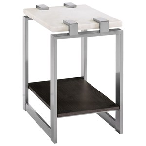 Contemporary Accent Table with Marble Top