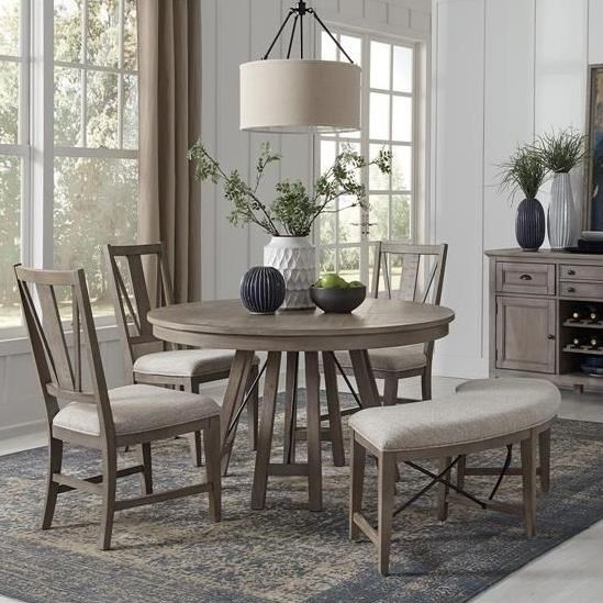 Paxton Place 5-Piece Dining Set with Bench by Magnussen Home at Stoney Creek Furniture
