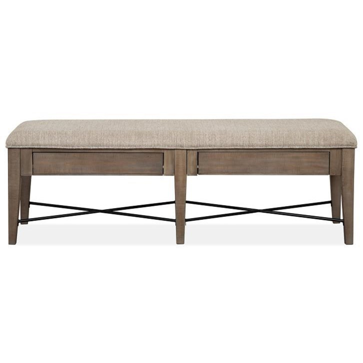 Paxton Place Bench w/ Upholstered Seat by Magnussen Home at Stoney Creek Furniture