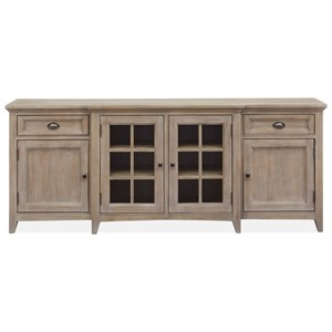 80 Inch TV Stand with Glass Doors