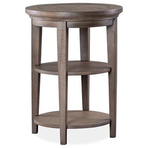 Round Two Tier Accent Table