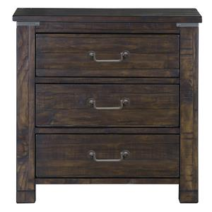 3 Drawer Nightstand with Touch Lighting