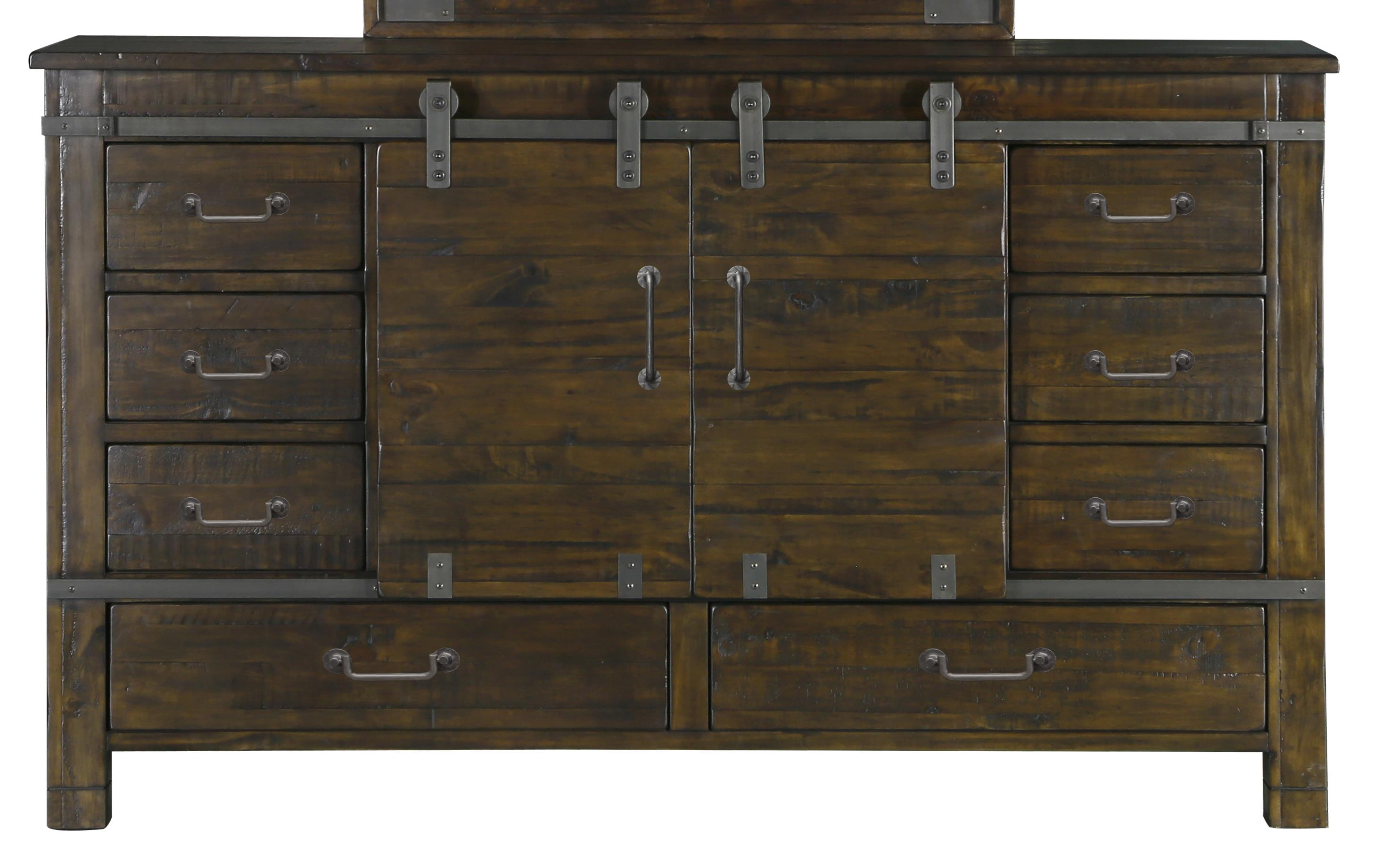 Pine Hill Sliding Door Dresser by Belfort Select at Belfort Furniture