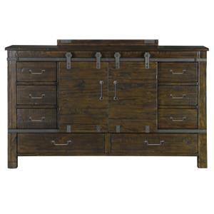 Sliding Door Dresser with 8 Drawers