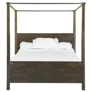California King Poster Bed in Rustic Pine Finish