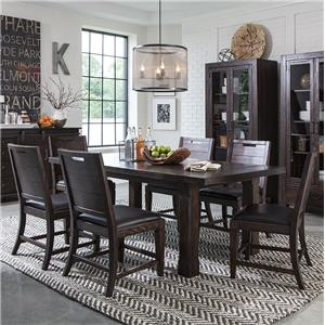 """7 Piece Table and Chair Set with 2 16"""" Leaves"""