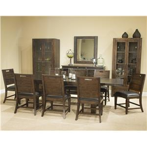 """9 Piece Table and Chair Set with 2 16"""" Leaves"""