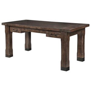 Rustic Writing Desk with Industrial Accents