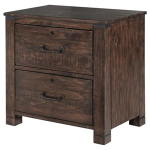 Rustic Lateral File with Locking Drawers