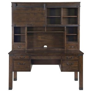 Rustic Secretary Desk with Wire Management