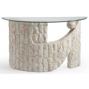 Demilune Glass Sofa Table