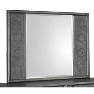 Modern Landscape Mirror with Lattice Design