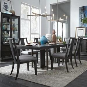 Modern Rectangular Table and Six Chair Set
