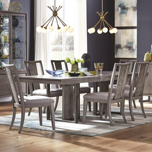 Modern Rectangular Table and Six Chair Set