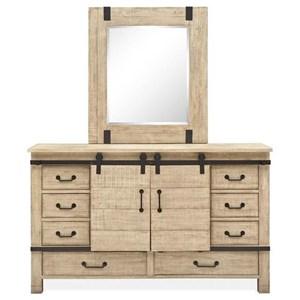 Dresser with Rectangular Mirror