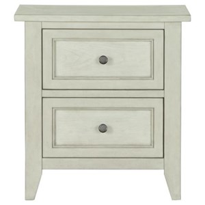 2 Drawer Night Stand with Felt-Lined Top Drawer