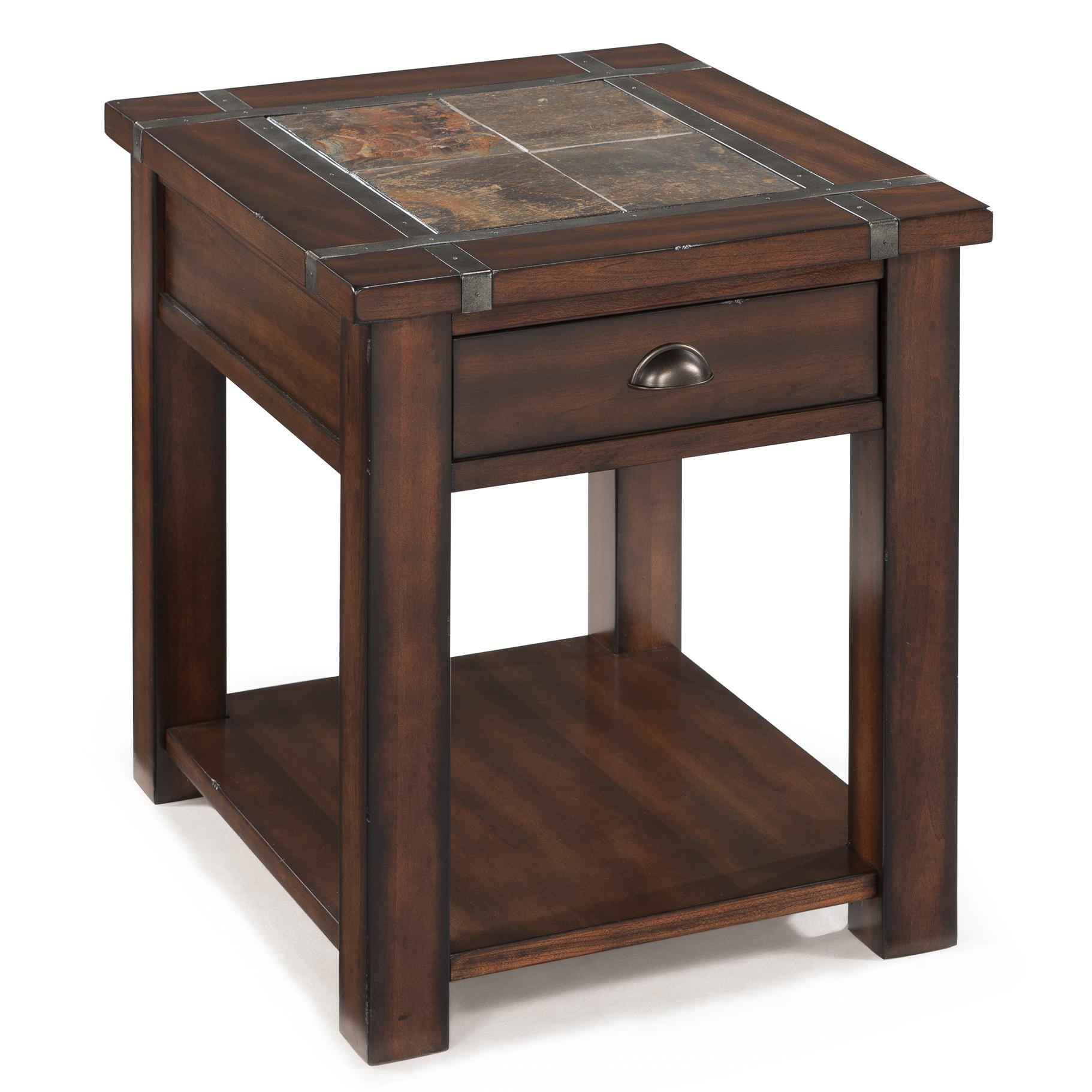 Roanoke Rectangular End Table by Magnussen Home at Johnny Janosik