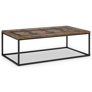 Rectangular Cocktail Table with Glass Insert Top