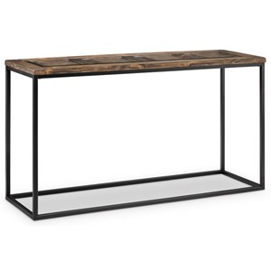 Rectangular Sofa Table with Glass Insert Top