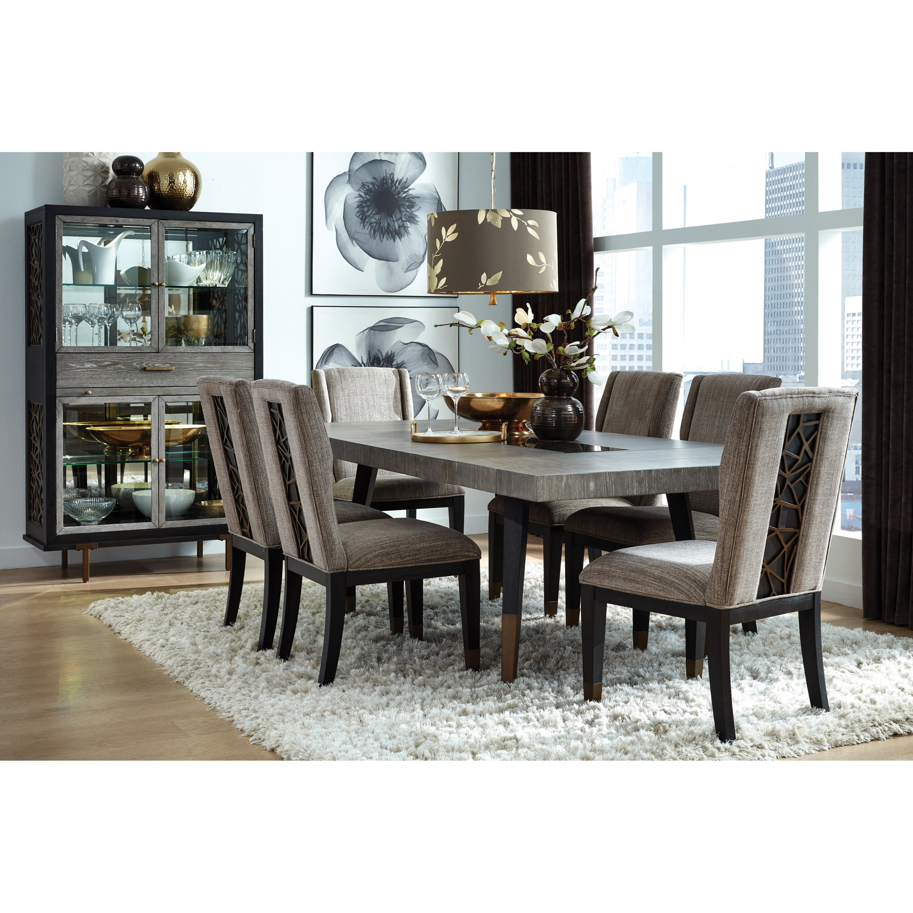 Ryker 7-Piece Dining Set by Magnussen Home at Darvin Furniture