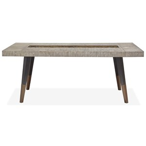 Transitional Rectangular Dining Table with Removeable Breadboard Leaves