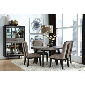 Transitional 5-Piece Dining Set