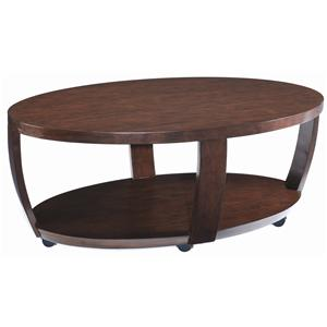 Magnussen Home Sotto Oval Cocktail Table