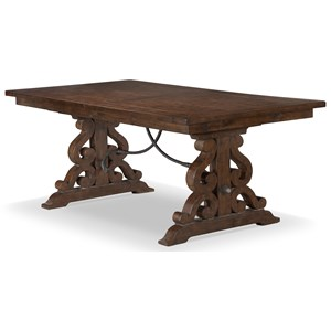 Dining Table with Serpentine Pedestals