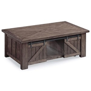 Rectangular Lift-Top Cocktail Table with Casters