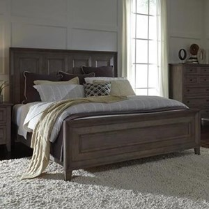 King Panel Bed with Tall Legs